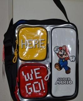 Super Mario Shoulder Bag Zilver