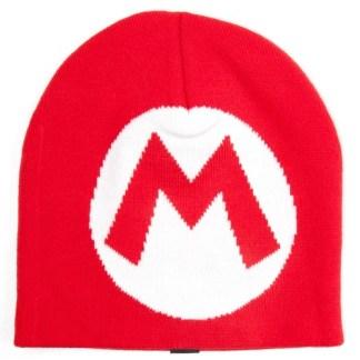 Rode Mario Beanie met M logo