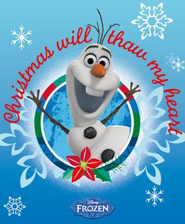 Frozen Olaf Christmas Mini Poster 50 x 40cm