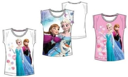 """Disney Frozen T-shirt """"Elsa en Anne Roze"""" 5 jaar"""