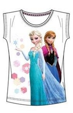 "Disney Frozen T-shirt ""Elsa en Anna Stars Wit ""8 jaar"""