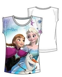"Disney Frozen T-shirt ""Elsa, Anna en Olaf Wit ""8 jaar"""