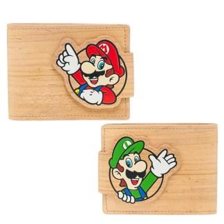 Mario & Luigi Woodgrain Snap Bifold Wallet