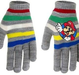 """Super Mario Handschoenen """"striped Grey"""""""