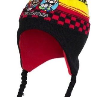 Super Mario Ski Muts zwart-rood maat 52