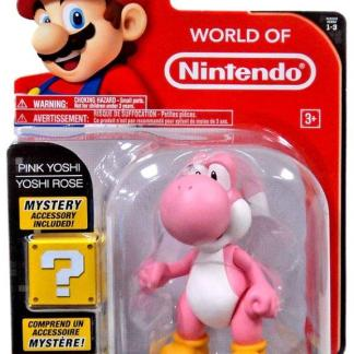 """World of Nintendo Serie 3 Action Figure """"Pink Yoshi 10cm with Egg"""""""