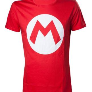 "Nintendo - Mario T- Shirt With Big M ""maat L"""