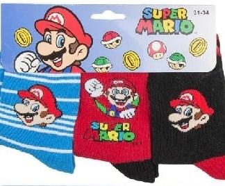 "Super Mario sokken ""3 Pack"" maat 27/30 Striped"
