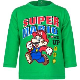 Super Mario baby t-shirt lange mouw Groen