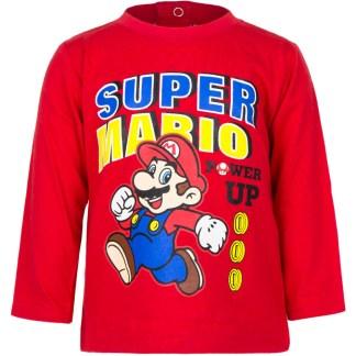 """Super Mario baby t-shirt lange mouw Rood """" 18 maanden"""""""