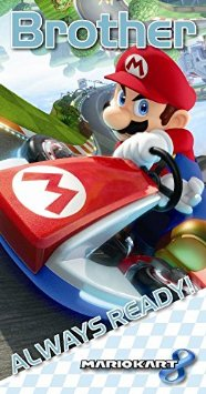 "Mariokart 8 ""Brother"" always ready verjaardagskaart"