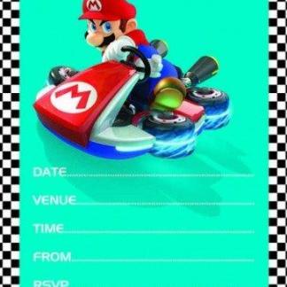Super Mario uitnodigingen 20 stuks in de verpakking + enveloppen