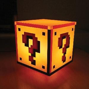 Super Mario Bros Question Block lamp