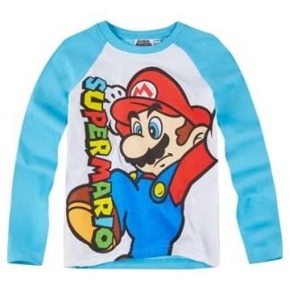 Super Mario Jump Longsleeve Blauw/ wit