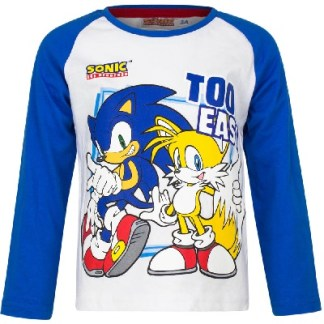 Sonic t-shirt Too Easy Blauw-wit