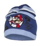 Super mario muts blauw met handschoenen