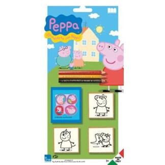 Peppa Pig 3 stempels op blisterkaart