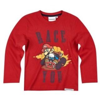"""Super Mario Race T-shirt lange mouw """"maat 140"""""""