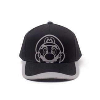 Nintendo Super Mario Reflective Print Curved Bill Cap
