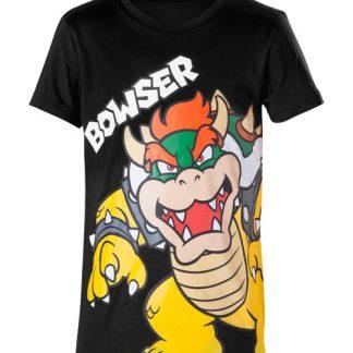 Super Mario T-shirt zwart Bowser