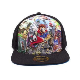 Nintendo -Super Mario Odyssey Black/Blue Trucker Cap