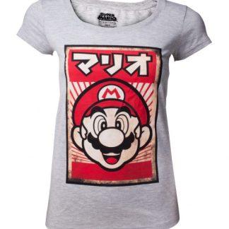 Nintendo Propaganda Mario Dames T-shirt maat XL