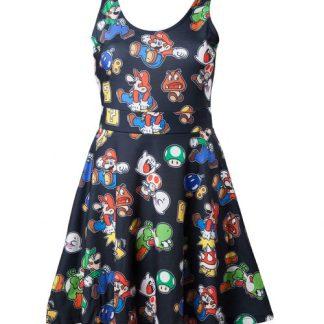 Nintendo - Super Mario Icons jurk zwart