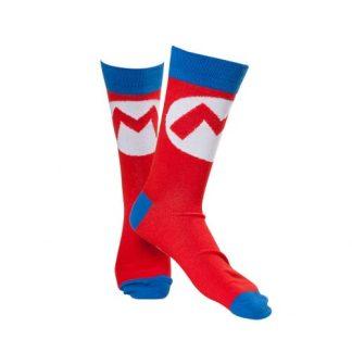 Nintendo -Super Mario sokken Big M rood/blauw maat 43-46