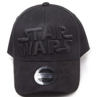 STAR WARS - BLACK ON BLACK LOGO CURVED BILL - CAP