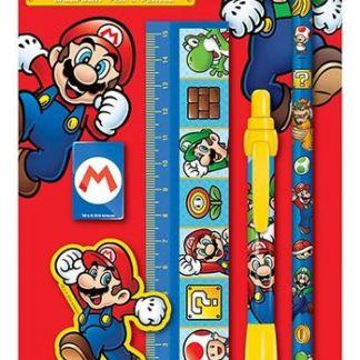 Nintendo - Super Mario Bros 5-delige schrijfpapier set