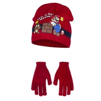 Super Mario - It's me Mario muts en handschoenen
