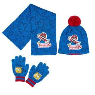 Super Mario - Muts, sjaal en handschoenen setje
