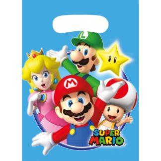 Super Mario - Super Mario uitdeelzakje 8 stuks in de verpakking