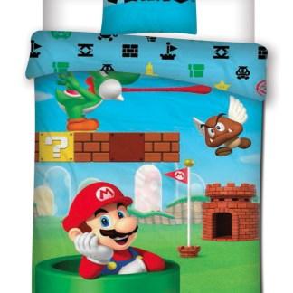 Nintendo - Super Mario en Yoshi dekbedovertrek 140 x 200cm