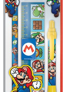 Nintendo - Super Mario Character 5-delige schrijfpapier set