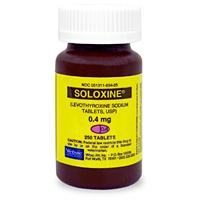 Soloxine (Levothyroxine) 0.4 mg 250 Tablets | VetDepot.com