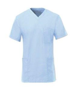 Alexandra D397 Unisexe Hôpital Pyjama De Bloc Tunique Médical Médecins Vêtement Travail – Bleu pâle, M