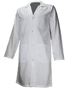 AMAWORK PH ENFT Blouse Blanche 100% Coton Chimie Laboratoire Medical Enfant College Lycee 14Ans