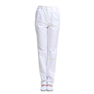 Pantalon Médical Unisex Ceinture Élastique Blanc pour Travail Medical ou Industriel (L(Hauteur: 165-170cm/Tour de Taille: 81-85cm))