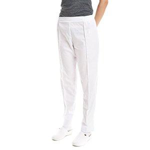 Pantalon medicale pour femme de travail (XL, Blanc)