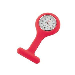 Montre infirmière Hopital idéal pour pulsation et lavage des mains coloris silicon rouge