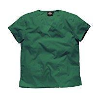 Tunique médicale à col en V Dickies unisexe (3XL) (Vert chasseur)