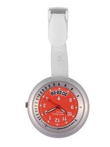 Montre gousset Medical Suisse ligne professionnelle Silver-Red + gravure offerte.