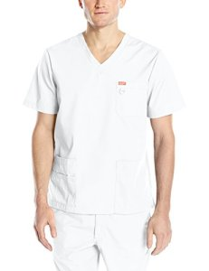 Blouse médicale, Orange Standard, Unisexe «Balboa» (G3107-) (L, Blanc)