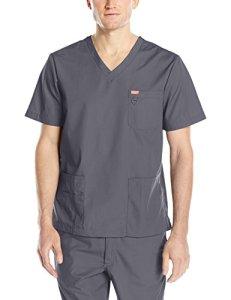 Blouse médicale, Orange Standard, Unisexe «Balboa» (G3107-) (XXS, Gris charbon)