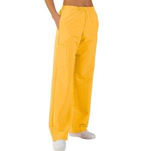 Pantalon médicale de travail taille élastiquée poches plaquées popeline 65/35 Yellow 816 T3 -44/46