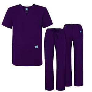 Adar Ensemble Uniformes Unisexe Blouse – Uniforme Médical avec Haut et Pantalon – 701 Couleur: PRP | Taille: S