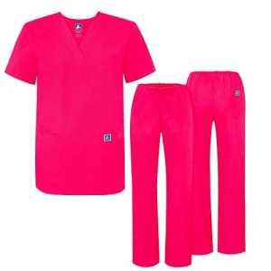 Adar Ensemble Uniformes Unisexe Blouse – Uniforme Médical avec Haut et Pantalon – 701 Couleur: FRP | Taille: M