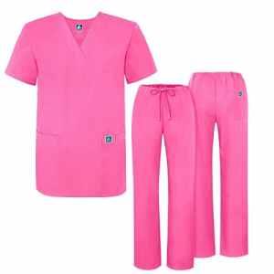 Adar Ensemble Uniformes Unisexe Blouse – Uniforme Médical avec Haut et Pantalon – 701 Couleur: LPP   Taille: 2X