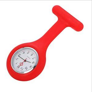 ZBBLJY Broche de Montre Infirmière de 2 Morceaux, Silicone avec Pin/Clip, Conception de Contrôle D'Infection, Infirmière Médecin de Soins de Santé, Ambulancier Médical Fob Watch,M8
